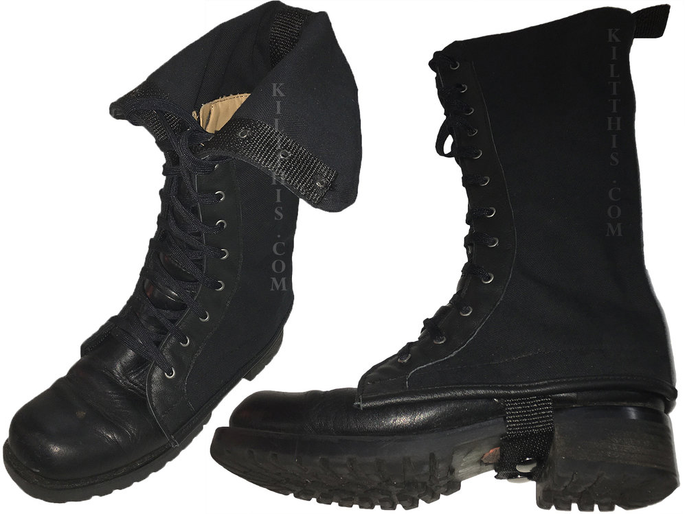"""Custom, """"Boot Covers,"""" adapts your boots to mid calf, ideal for kilts. Another design created by Kilt This. Handcrafted from the same sturdy materials as our kilts. Longer designs available. Ask about options."""