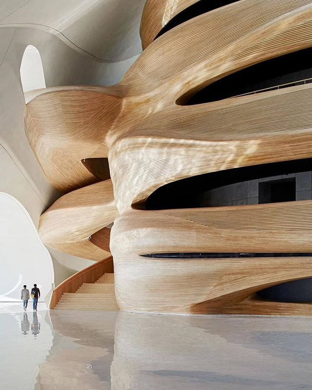 Inspired by the use of fluid forms and reflection in the Harbin Opera House by @madarchitects. *swoon*