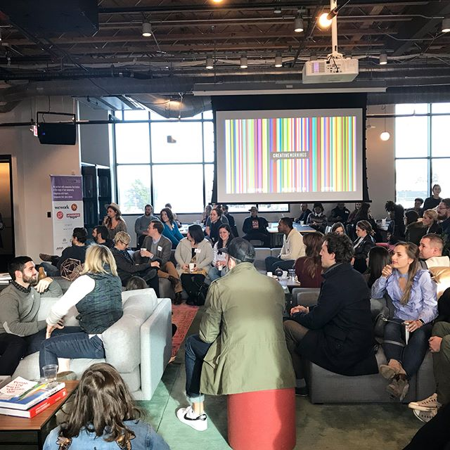Spent the morning with the fine folks of @wework on the east side hearing from @coltonmul on anxiety and the creative process. So encouraged by the boldness with which he shared his story and his journey with @foxfuelcreative!