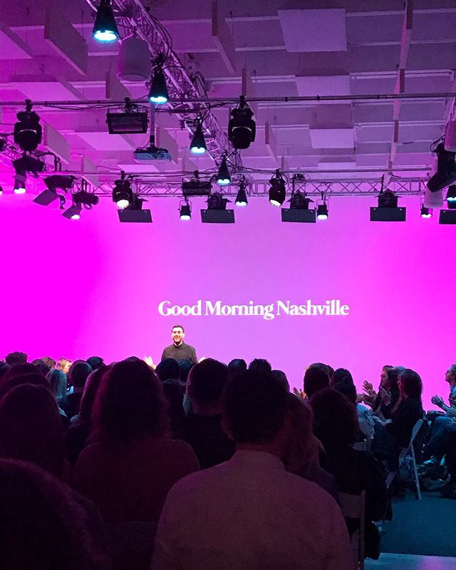 Good morning, Nashville!! @nashville_cm @lad_design @studio_615 @nashvilledesignweek