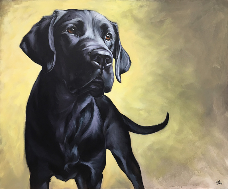 """Dixie"" (Black Labrador) 