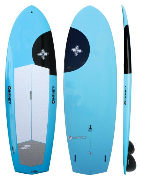 "Infinity Phoenix 8'   $1149 on sale for $860 8'0"" x 30"" x 4""   113 liters    Twin - Keel fins Novice: up to 150lbs Intermediate: up to 180lbs Advanced: up to 225lbs"