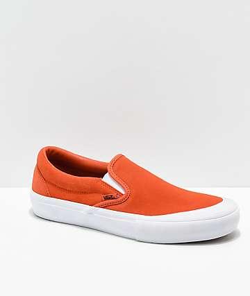 vans slip on orange