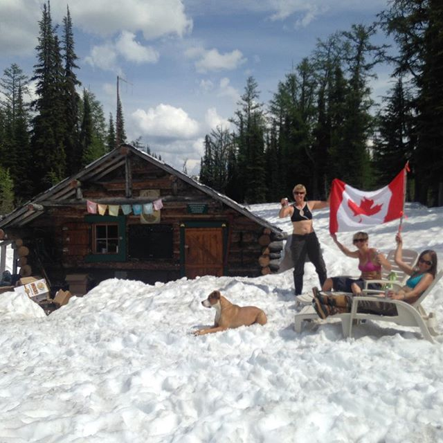 Happy #canadaday #canada150!! This is how the crew up @dianalakelodge celebrated! #myBCbackcountry #unpluginbc #trulycanadian #helihike