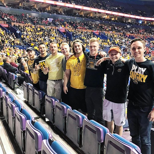 Our brothers out in STL cheering on our shockers in Arch Madness🌾