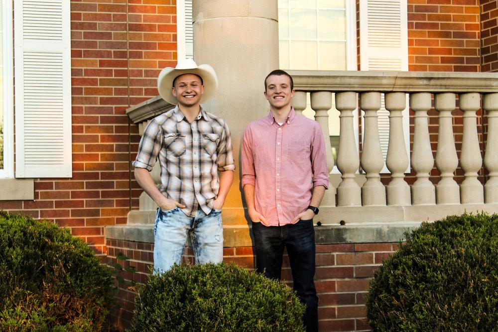 The 2016 Balanced Man Scholarship winners - Ryan Pfaff and Chris Thiel
