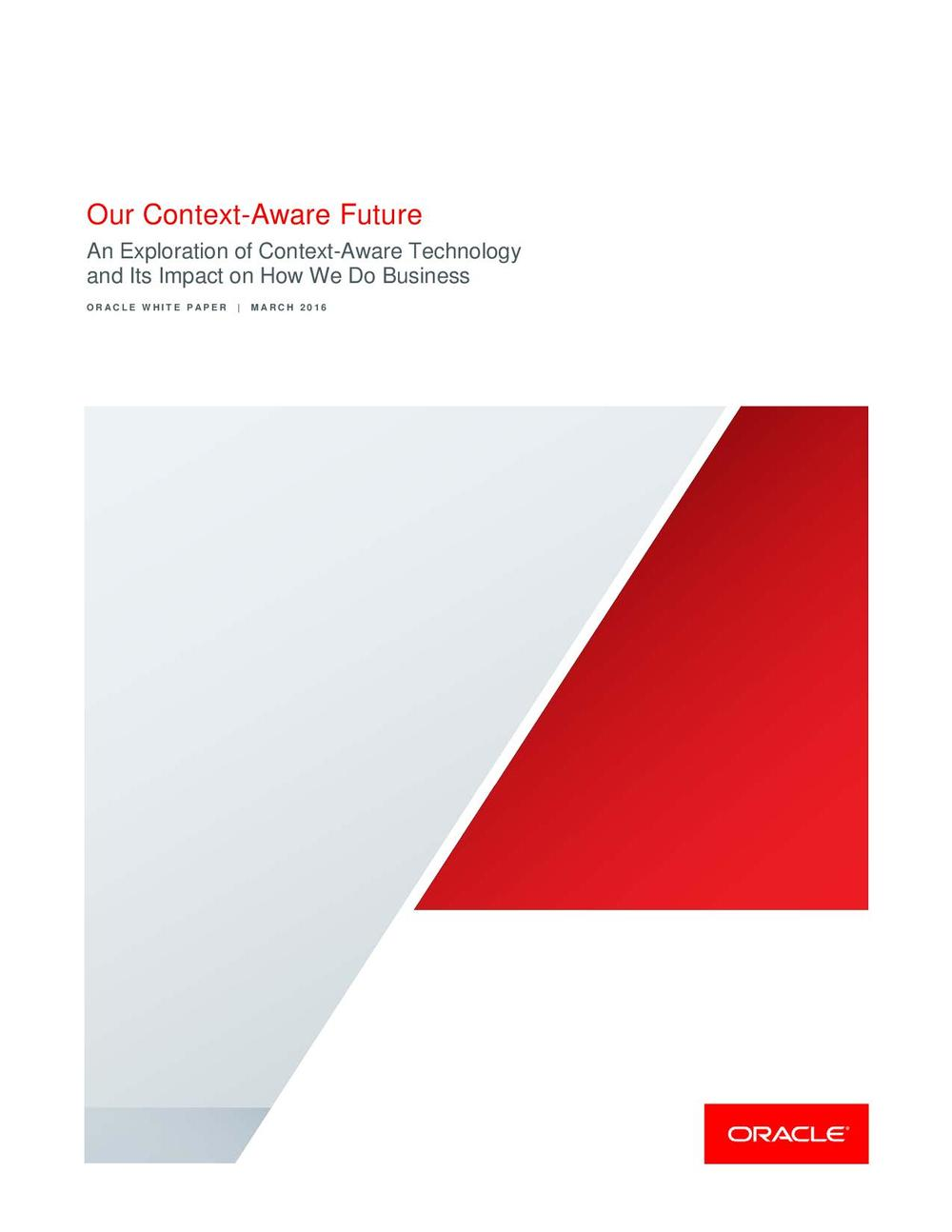 Oracle: Our Context-Aware Future