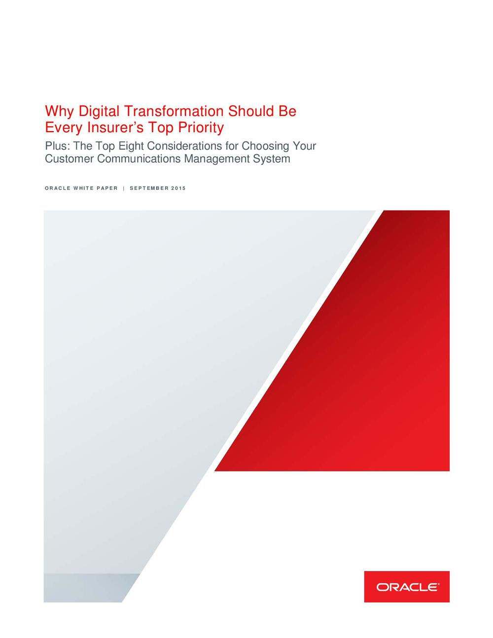 Why Digital Transformation Should Be Every Insurer's Top Priority
