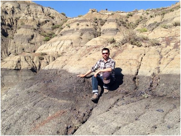 Me sitting on the K/Pg boundary in Garfield County, Montana