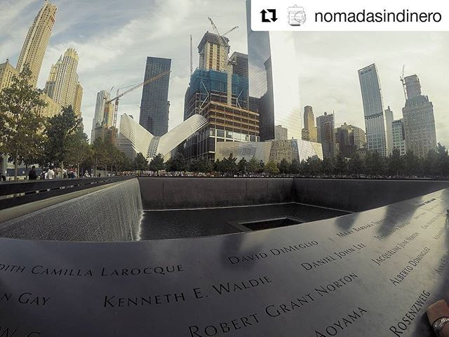 "#Repost @nomadasindinero ・・・ ""No day shall erase you from the memory of time."" -Virgil  #911memorial #neverforget #nyc"