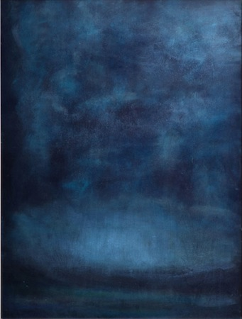 Blue Dusk 30 x 24 Oil On WOOD<br>Sold