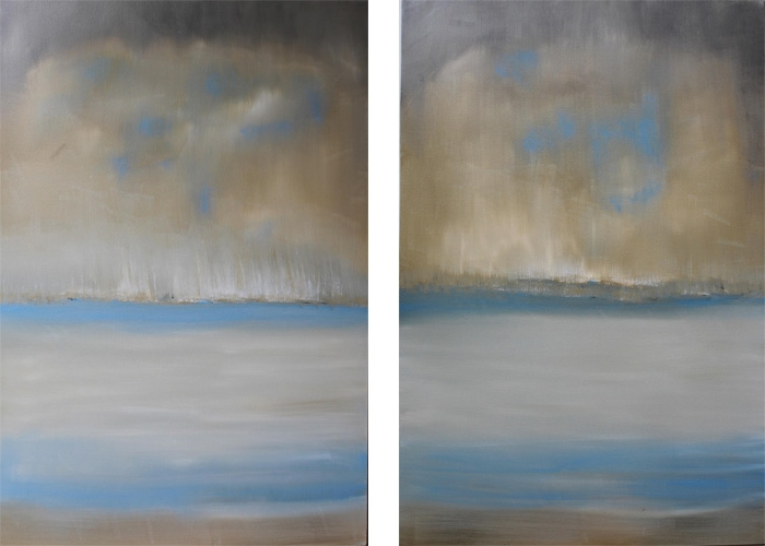 Untitled Seascape I II 40 x 60 OIL ON LINEN