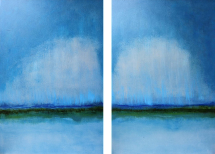 UNCONDITIONAL I II 48 X 27 Oil on Linen<br>SOLD