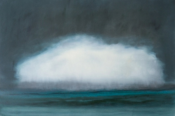 Solitary Cloud  40 x 60 Oil on Linen<br>SOLD