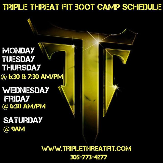 Feeling like joining the @TripleThreatFitness army? Contact us now and we'll get you ready to rock this coming week! #GottaLOVEIt