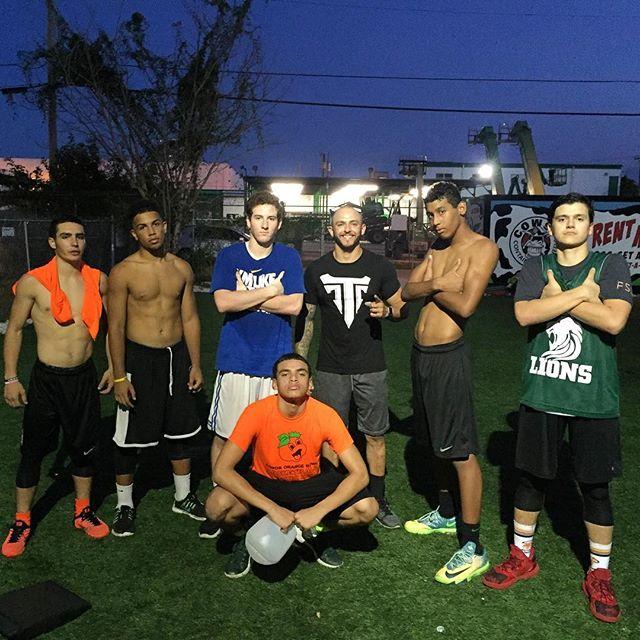 Trainer @msantis10 putting the #LaSalleImmaculataHighSchool boys to work! Great work fellas! #GottaLOVEIt