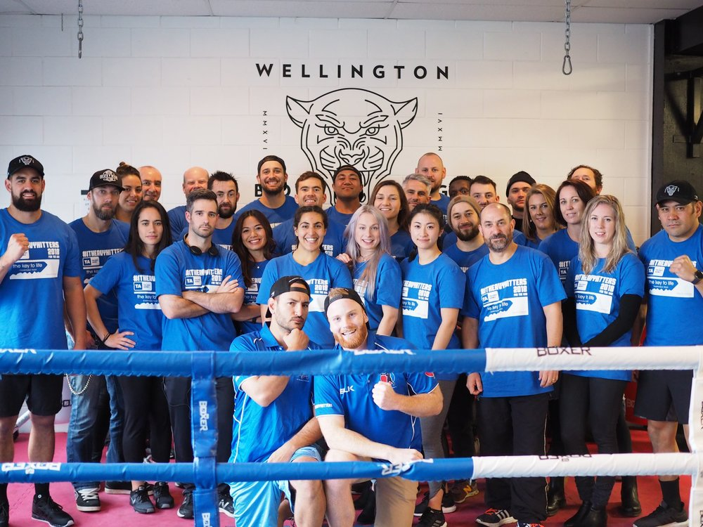ITHH 2018 family - Wellington Boxing Gym Blue Team