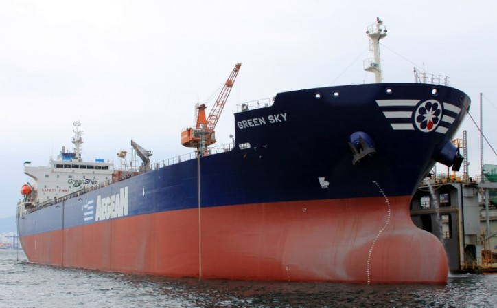 Aegean tanker tied up in court case.