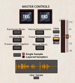 Drag & Drop + Master Controls