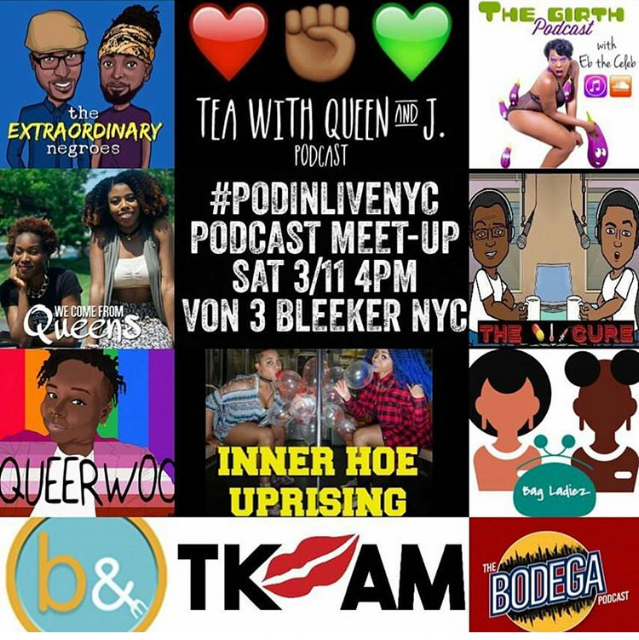 We gathered our favorite independent Black podcasts for #PodinLiveNYC: Black Podcast Meet-up! Celebrating independent Black voices in an age of alt facts. Check out pictures from this amazing day.