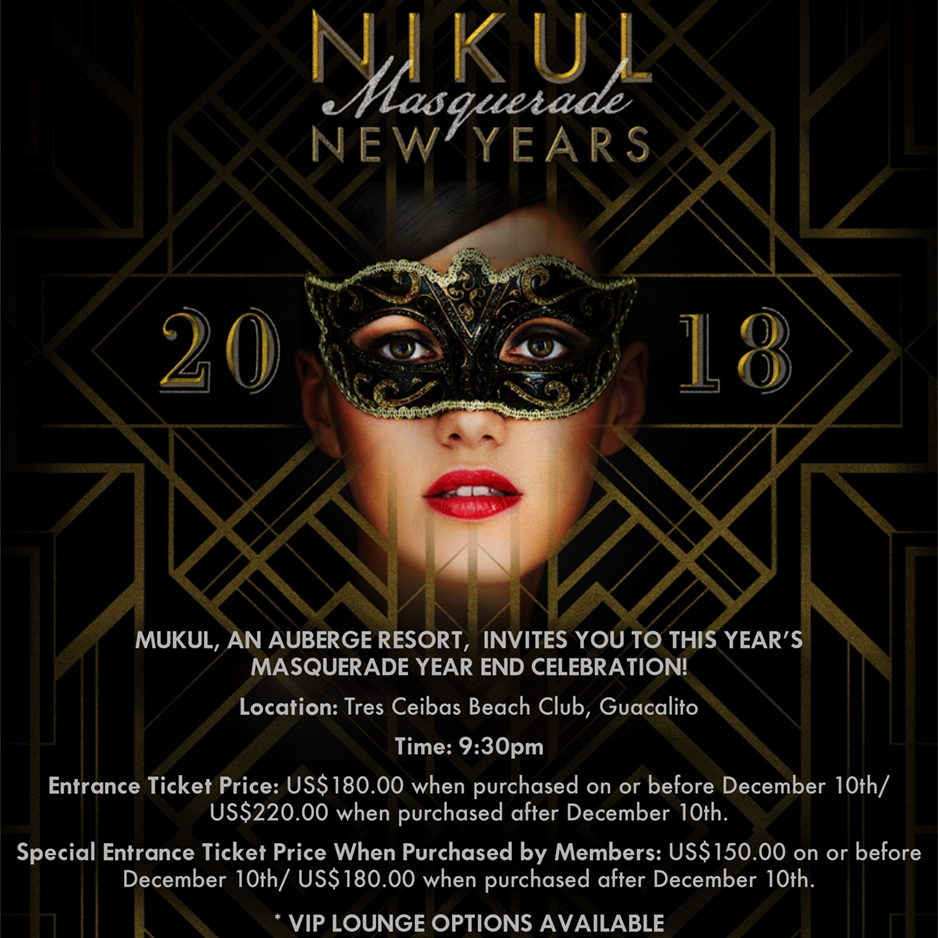 taking place at the tres ceibas beach club mukuls annual new years eve festivities will begin at 930 pm on december 31st a few hours ahead of the