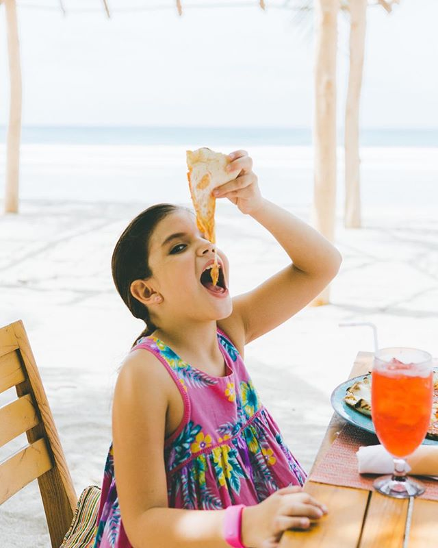 Nothing better than eating a pizza you helped make yourself. The young ones can't get enough of our Kul Kids club! While the parents are relaxing, the kids are having a blast! #OnlyNica #travelwithkids