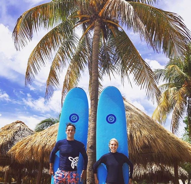 Fantastic shot from @bpktravel's clients enjoying the sun + surf here at Mukul! Whether you're looking for your first-ever lesson or practically a pro, we've got you covered. #OnlyNica #SurfsUp