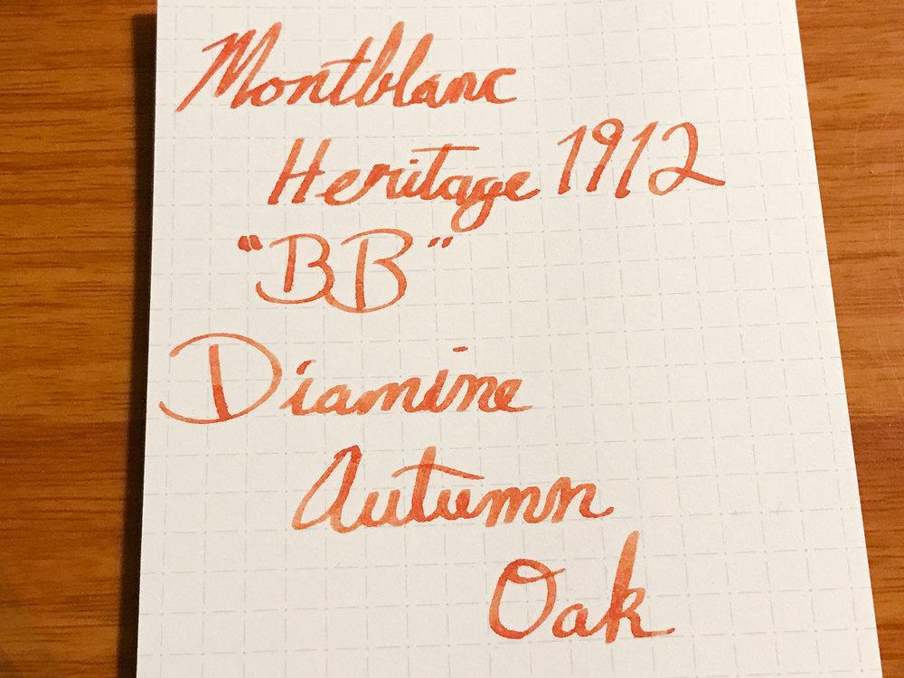 Writing Sample Using Diamine Autumn Oak