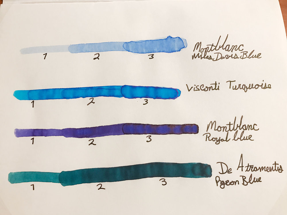 Ink Comparison with Four Inks
