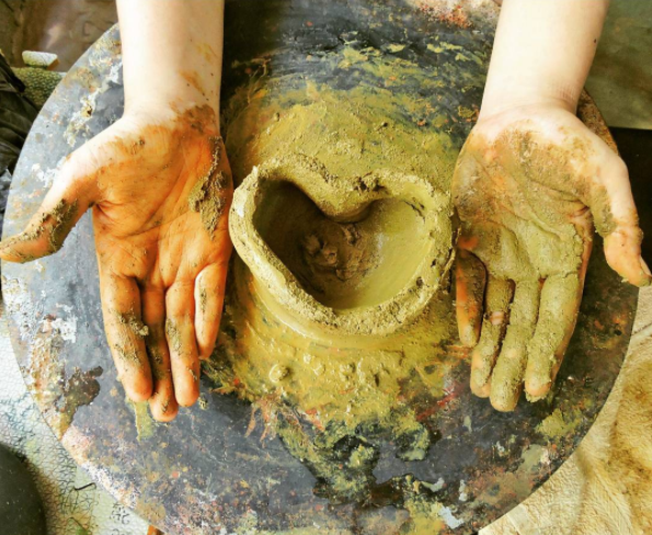 3:00 PM POTTERY CLASS AT RED CLAY POTTERY  Photo by @ chyntcha