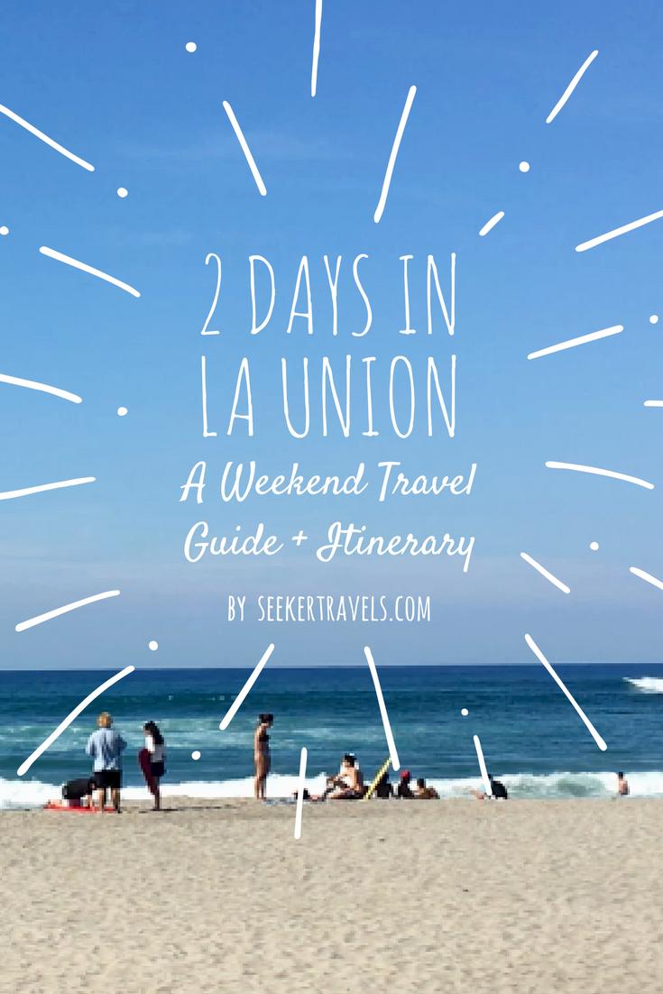 2 Day La Union Itinerary