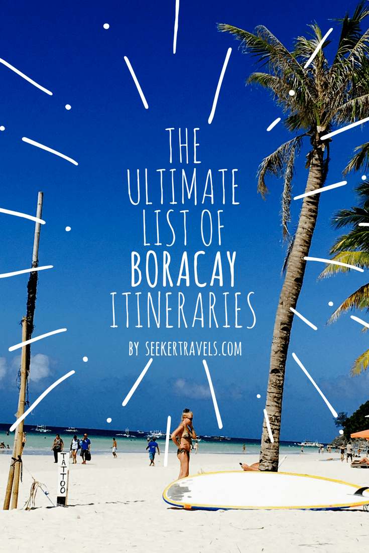 The Ultimate List of Boracay Itineraries | SEEKER
