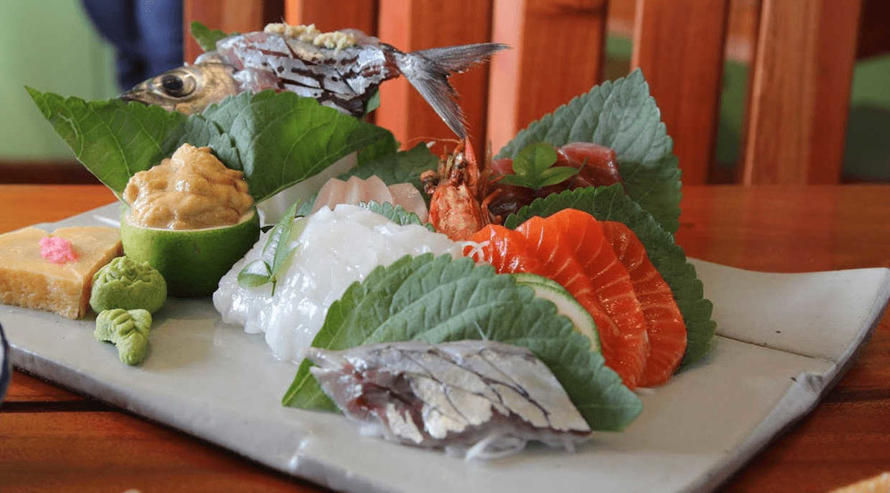 Where to eat in Baguio - Chaya Baguio (sashimi variety)