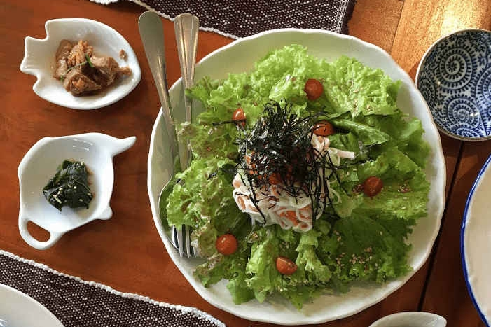 Where to eat in Baguio - Chaya Baguio (kani salad)