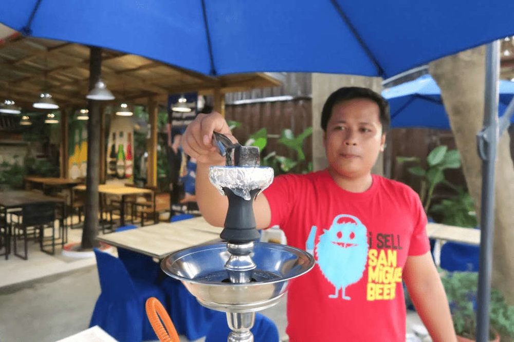 What to eat in La Union - Magellan's (Grape shisha)