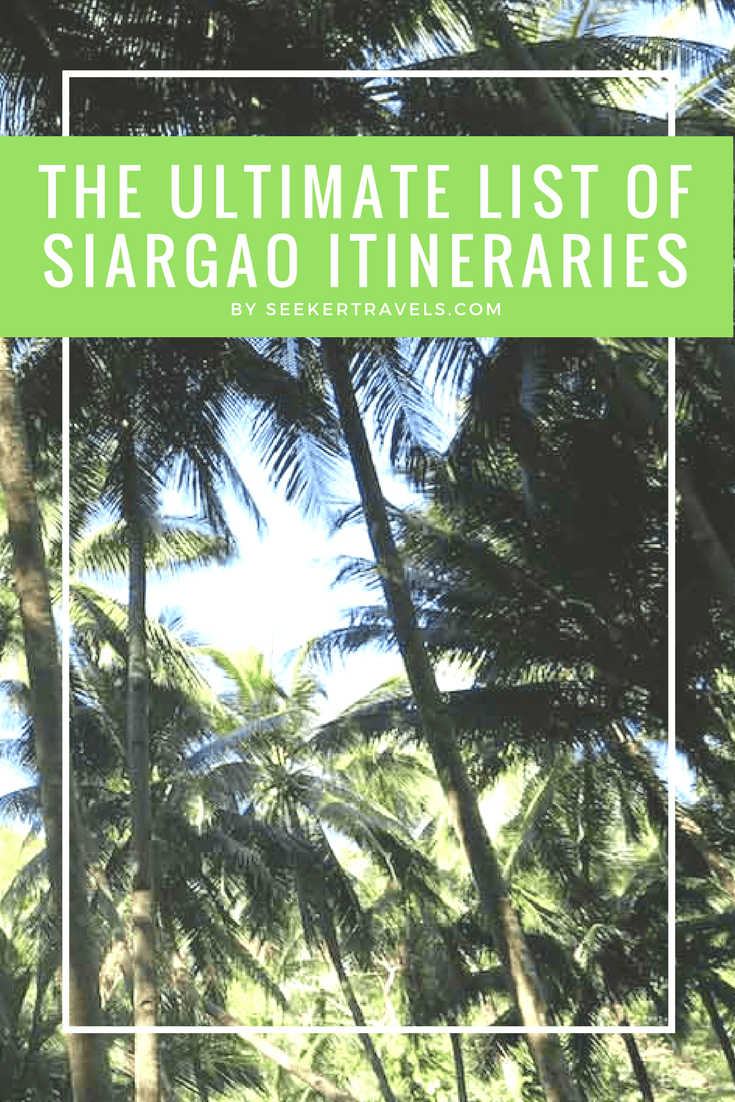 Pin this - Siargao Itineraries | SEEKER