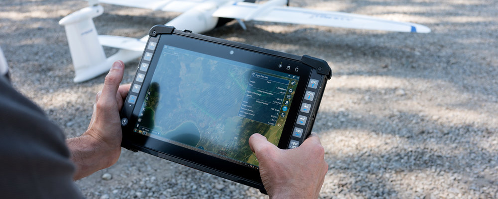Qbase Mission control system Easy to use and can be installed on ruggedized tablets or Panasonic ToughBooK Computers with Windows operationg system.