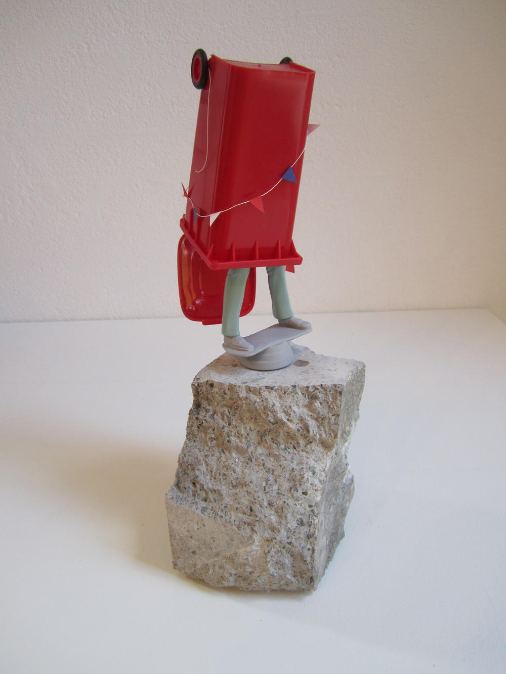 Costume, 2011    Enamel on acrylic, concrete, plastic, paper, string 38 x 20 x 19 cm