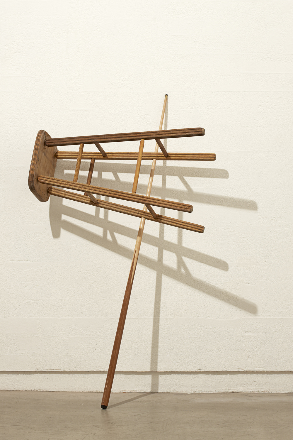 Cue/Stool, 2009 Cue and Stool 136 x 80 x 55 cm as exhibited