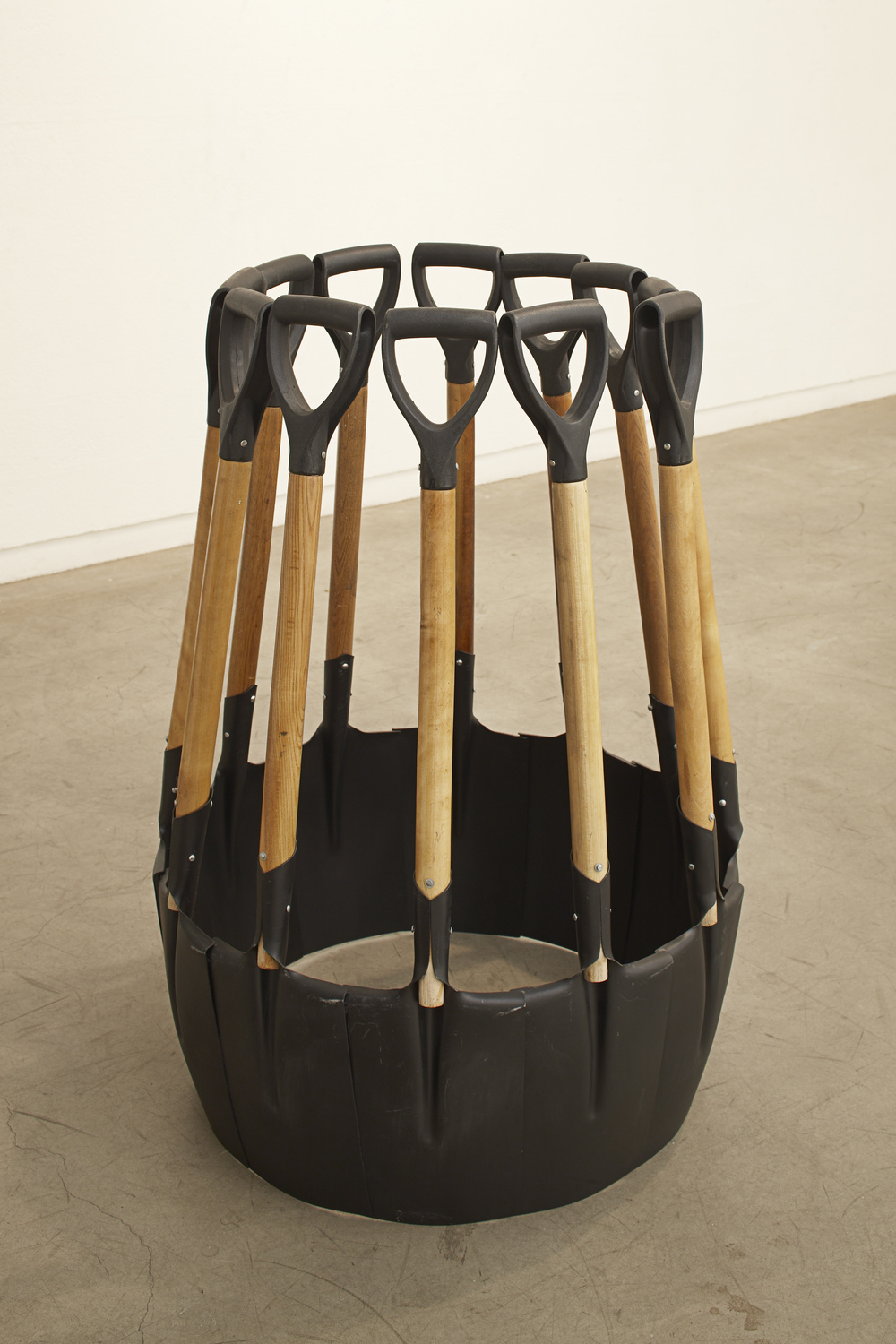 In Advance of the Broken Army, 2009 Steel, Wood 102 x 73 x 72 cm