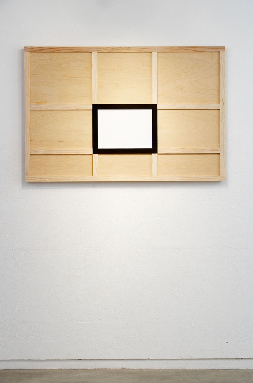 BACKBOARD, 2007   Acrylic paint on plywood and pine   122 x 182 x 6.5 cm