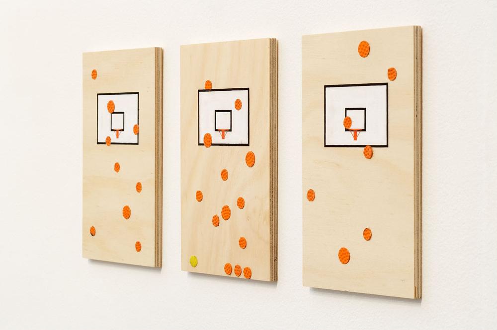 HOOPLA   (a,b,c), 2007 each 20.5 x 13 x 1 cm