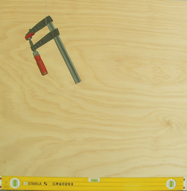 Clamp and Level, 2006 Acrylic on Plywood 85 x 85 cm