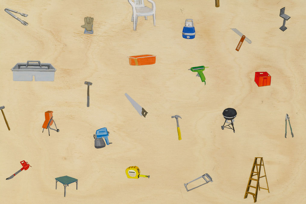 Some Stuff, 2006 Acrylic on Plywood 120 x 140 cm