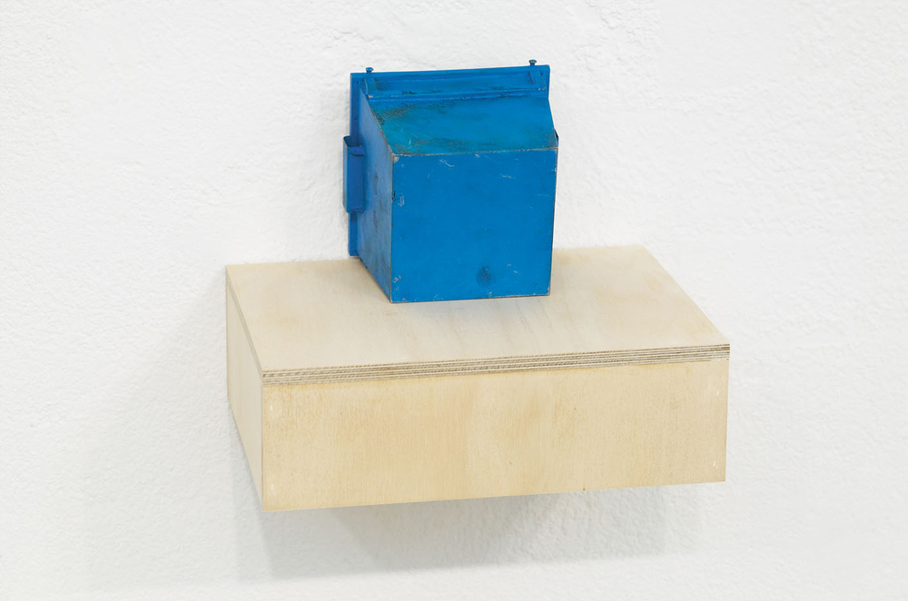HIDE Enamel on Steel & Brass, Plywood 21.5 x 27 x 20 cm