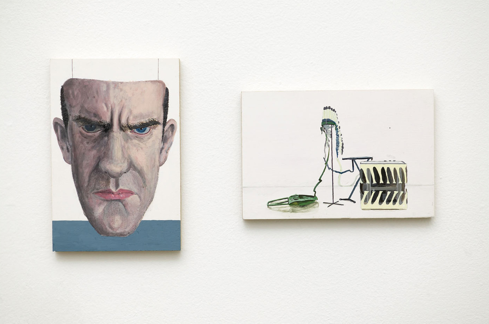 RON + BILL Acrylic on Plywood 2 Panels Each 10 x 15 cm