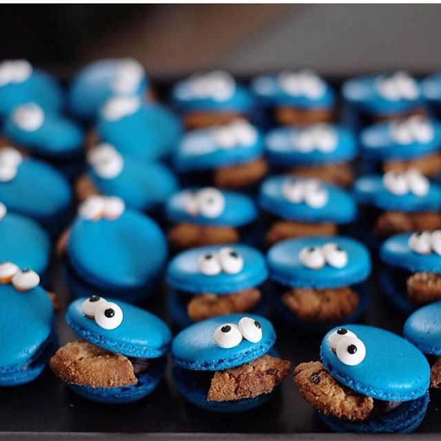 COOKIE MONSTERS   Who doesn't like cookie monsters? Especially when they're stuffed with chocolate fudge.