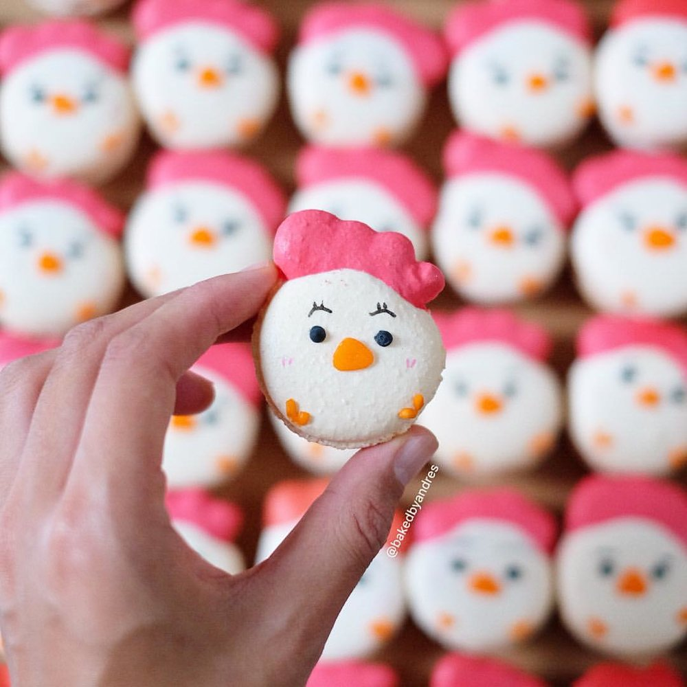 Roosters   A macaron specially created for Chinese New Year 2017