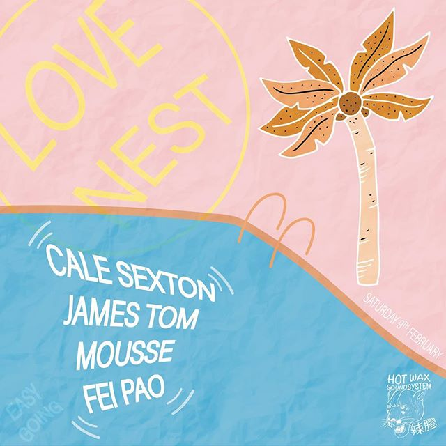 "Mousse & Fei Pao have teamed up to bring you a series of summer events at The Nest Bar featuring a lineup of local and international guests. Hot Wax Soundsystem will be providing Altec Lansing speakers specially for the occasion.  First up we have Cale Sexton (Butter Sessions) & James Tom (Krakatau)  Cale Sexton is a Melbourne based producer and one of the core members of the Butter Sessions family. He recently released his debut LP ""Melondrama"" on the label which has been getting love both locally and internationally.  James Tom is the keyboard/ synth wizard in Melbourne based Jazz Rock band Krakatau. Simultaneous to his involvement in the band James is a top selector and collector of music, who has been delivering diverse DJ sets around Melbourne and Australia for the past 5 years.  The Nest Bar will be serving up scrumptious $10 spritz all day!  We invite you to come share in wonder of music, everyone is welcome.  XO  Mousse & Fei Pao"