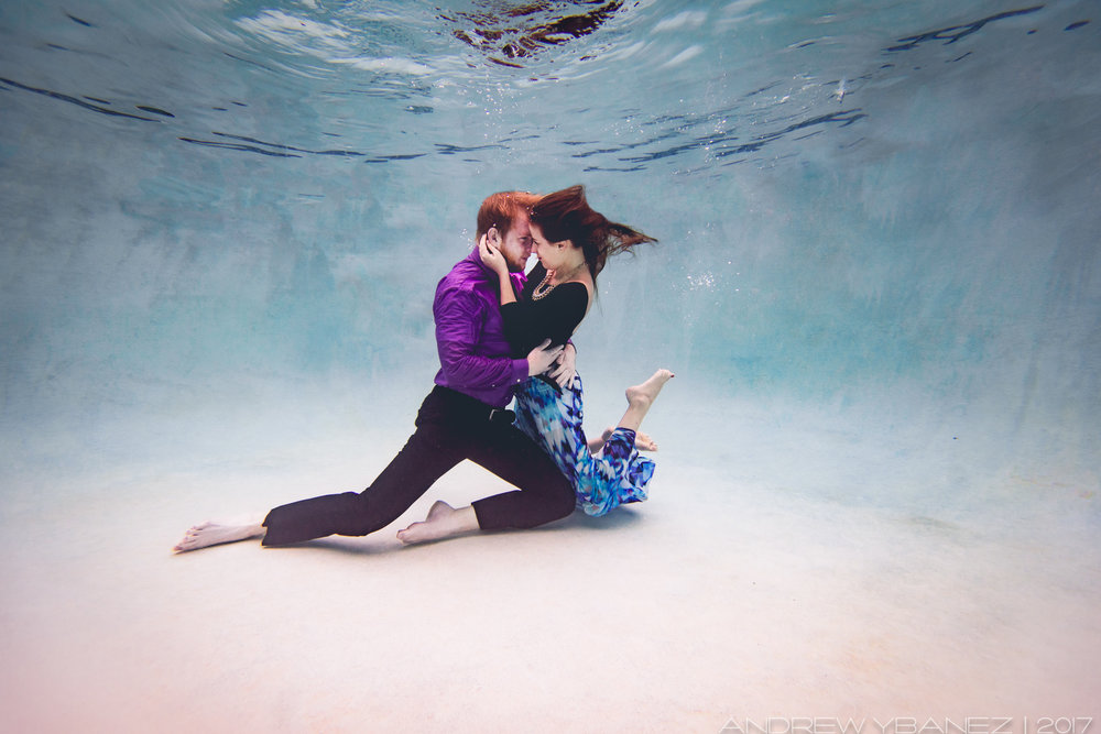 Underwater photography session with Andrew Ybanez - Phoenix AZ   https://www.elementalfotos.com/underwater-sessions/